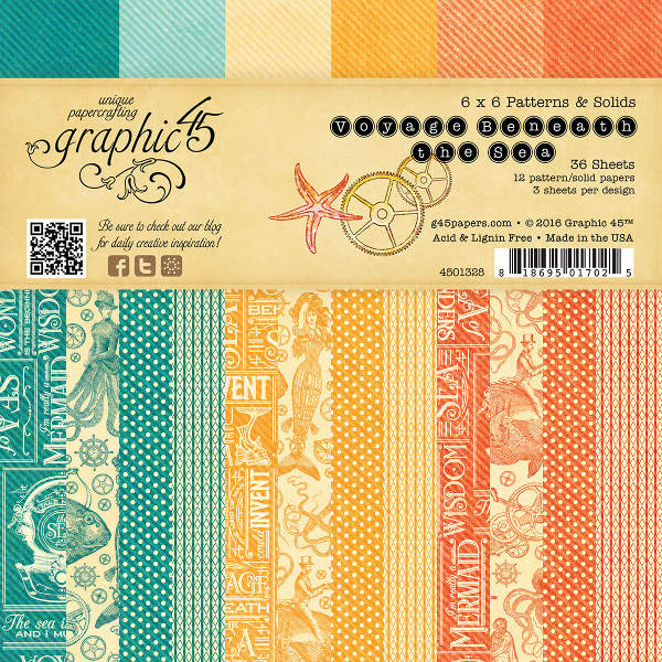 Voyage Beneath the Sea -   6x6 Patterns & Solids - Graphic 45