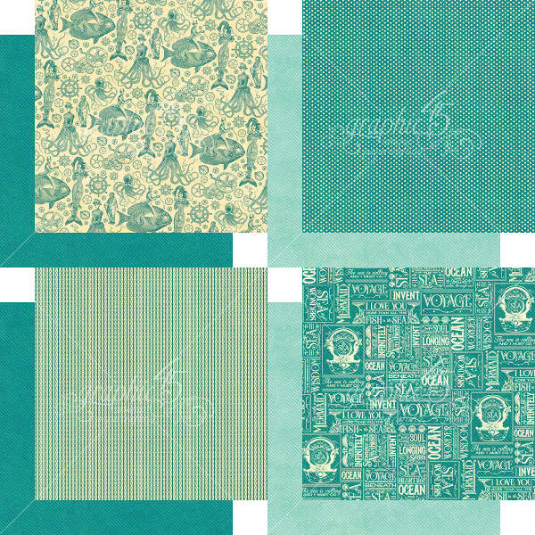 Voyage Beneath the Sea -   6x6 Patterns & Solids - Graphic 45-3
