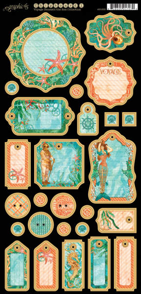 Voyage Beneath the Sea -   Journaling Chipboard - Graphic 45