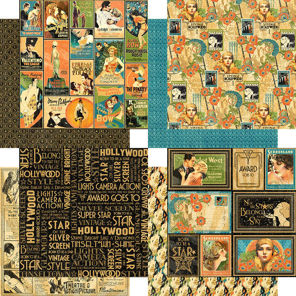Vintage Hollywood 8x8 Paper Pad - Graphic 45-2