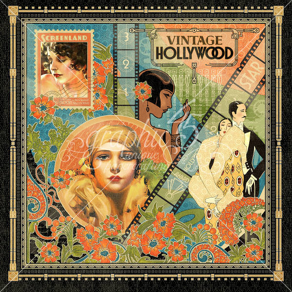 Vintage Hollywood  Vintage Hollywood 12 x 12 Patterned Paper - Graphic 45-1