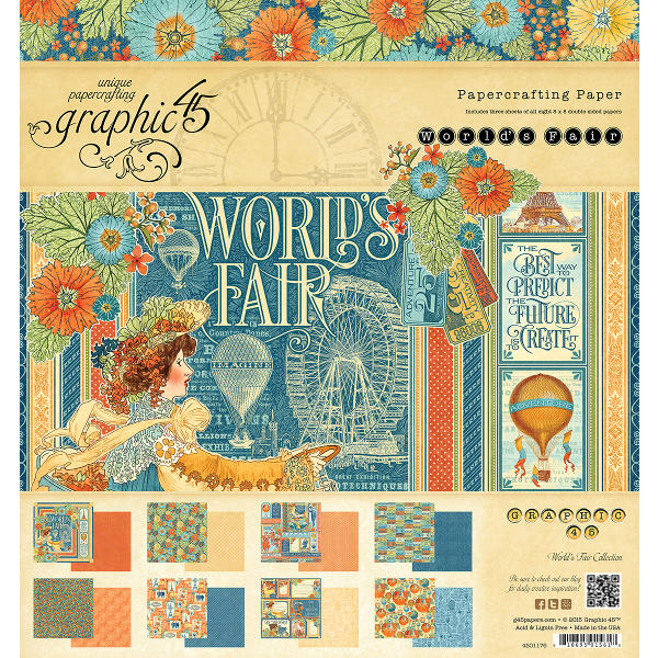 Worlds Fair -  8x8 Paper Pad - Graphic 45