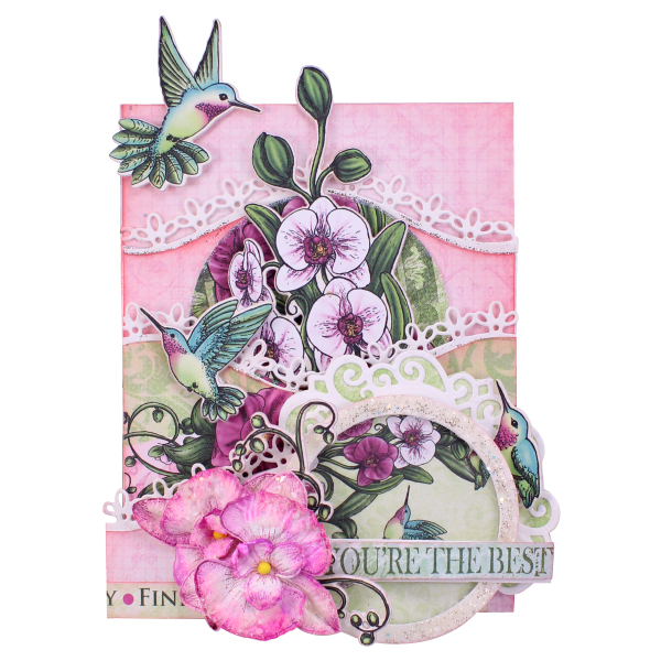 Heartfelt Creations Foldout Card - White 4.25x5.5-2