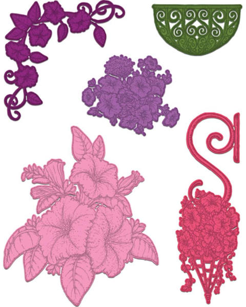 Craft Dies - Classic Petunia Bouqet - Heartfelt Creations-1