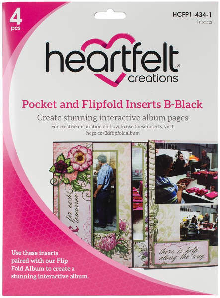 Heartfelt Creations Pocket & Flipfold Inserts B - Black