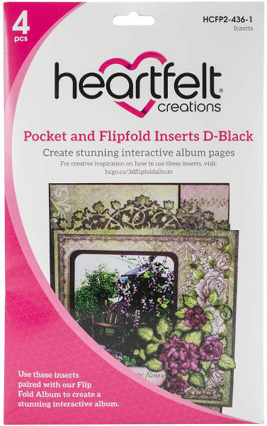 Heartfelt Creations Pocket & Flipfold Inserts D - Black