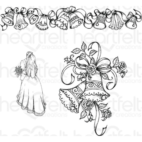 Cling Stamps - Classic Wedding Bells - Heartfelt Creations-1