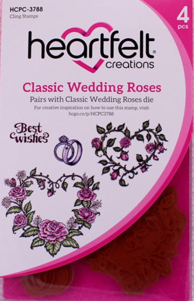 Cling Stamps - Classic Wedding Roses - Heartfelt Creations