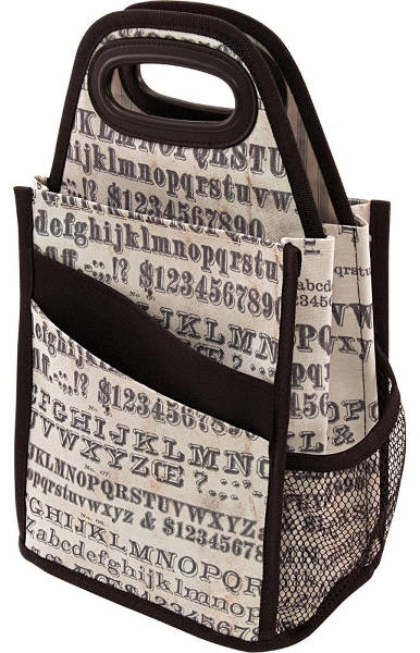 Tim Holtz Storage Studios Typography Spinning Craft Tote