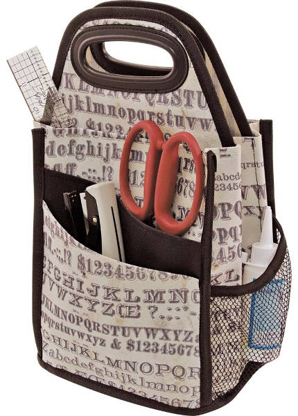 Tim Holtz Storage Studios Typography Spinning Craft Tote-1