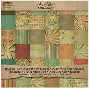 Idea-ology Paper Stash Retro Grunge - Tim Holtz - Advantus