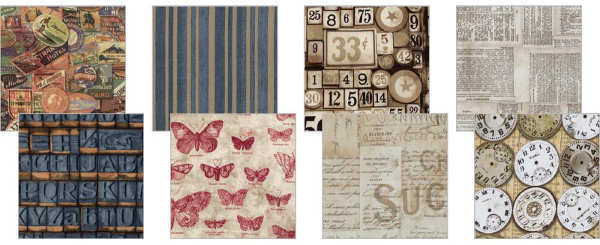 Eclectic Elements - 12x12 Fabric Craft Pack - Melange - Tim Holtz - Coats