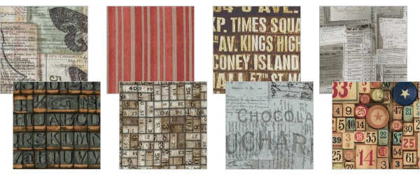 Eclectic Elements - 6x6 Fabric Craft Pack - Documentation - Tim Holtz - Coats