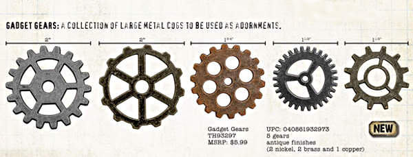 Idea-ology Metal Gadget Gears - Advantus-2