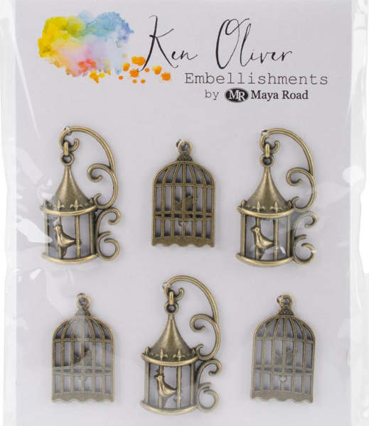 Ken Oliver Metal Vintage Bird Cages - Maya Road