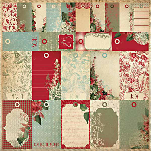 Just Believe Christmas - Perforated Tags - To Froms - 12x12 Patterned Paper - KaiserCraft