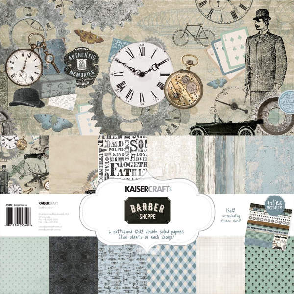 Barber Shoppe -  12x12 Paper Pack - KaiserCraft