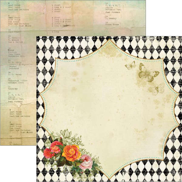 Junque Gypsy - Nota Bene - 12x12 Doubled Sided Paper - Marion Smith