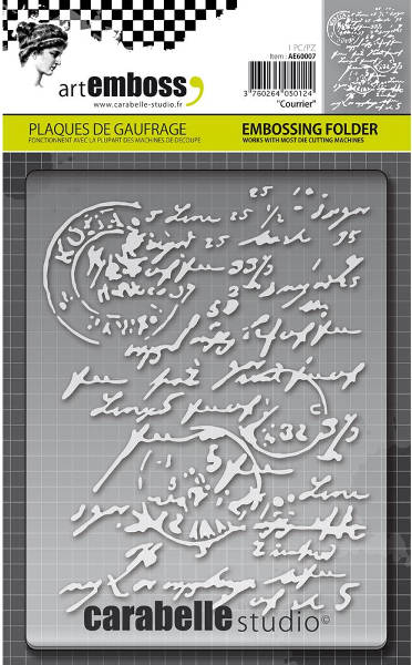 Art Emboss - Courrier Embossing Folder - Carabelle Studio