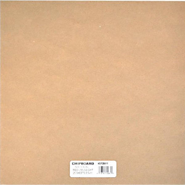 12x12 Chipboard Natural - Grafix
