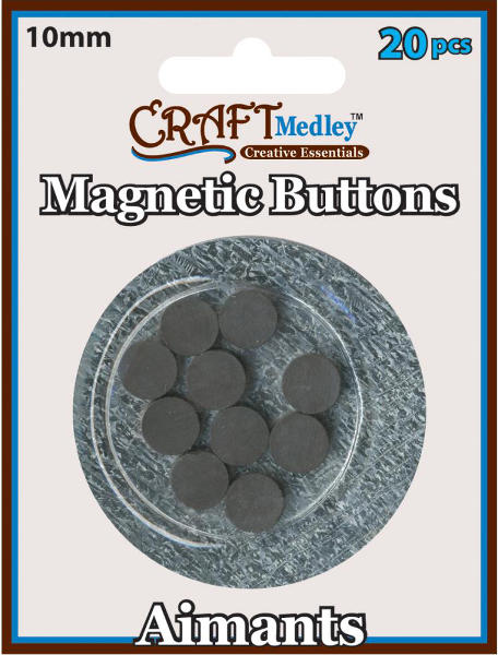 Magnetic Buttons - 10mm - Craft Medley