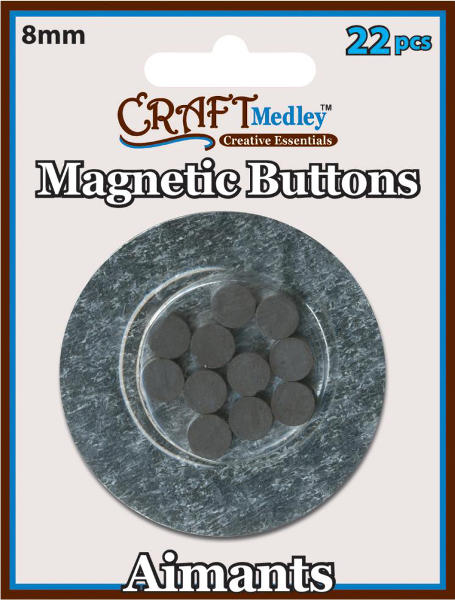 Magnetic Buttons - 8mm - Craft Medley