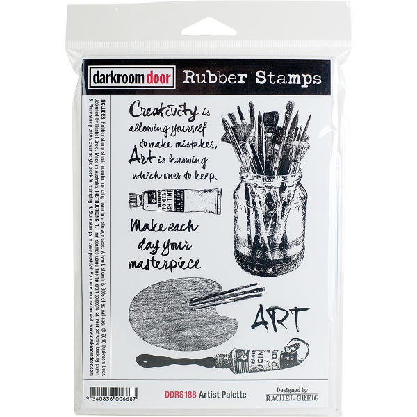 Darkroom Door Rubber Stamp Set - Artist Palette