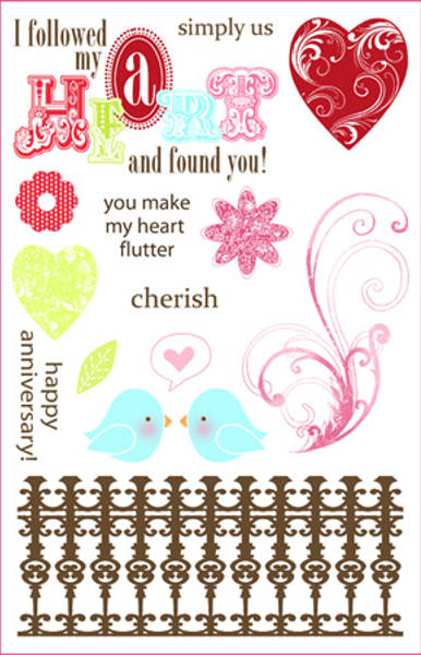 Darcies Rubber Cling Stamp Sets - Love Birds