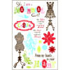 Darcies Rubber Cling Stamp Sets - Material Girl