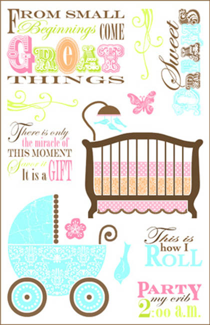 Darcies Rubber Cling Stamp Sets - Small Beginnings