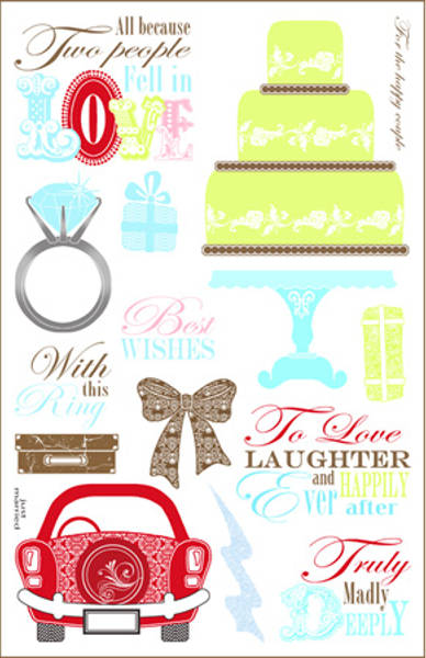 Darcies Rubber Cling Stamp Sets - Wedded Bliss