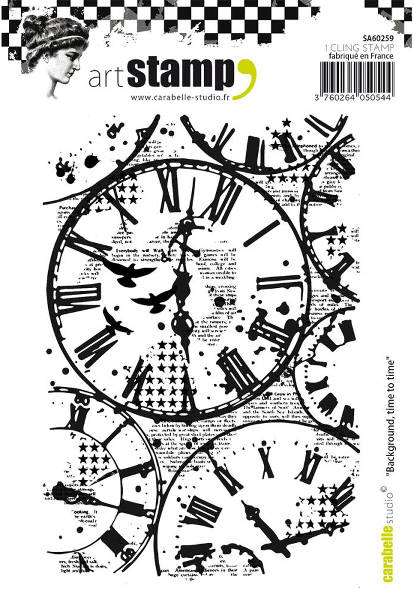 Art Stamp Time To Time Background - Carabelle Studio