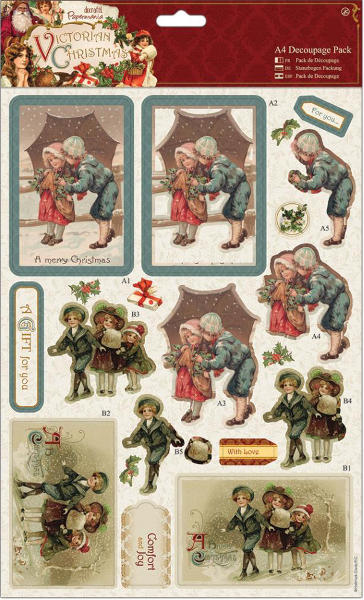 Victorian Christmas - A4 Decoupage Pack - Children - Papermania