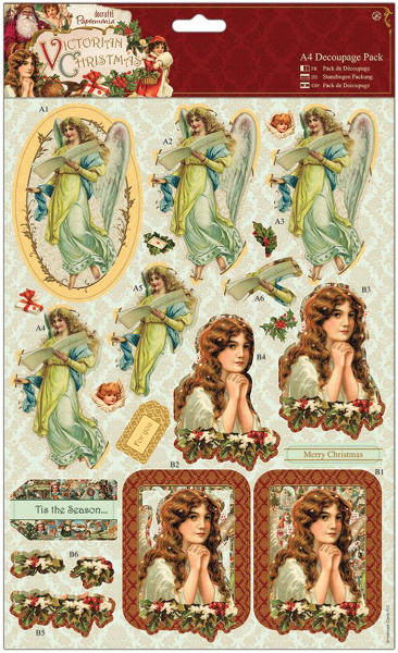 Victorian Christmas - A4 Decoupage Pack - Cherubs - Papermania