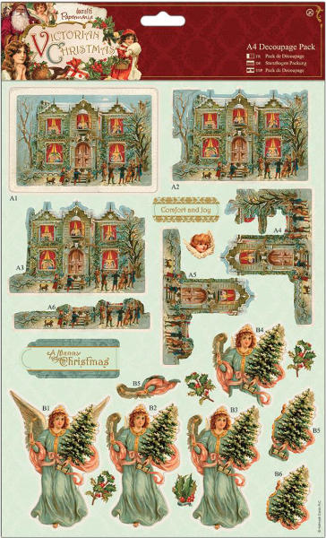 Victorian Christmas - A4 Decoupage Pack - House - Papermania