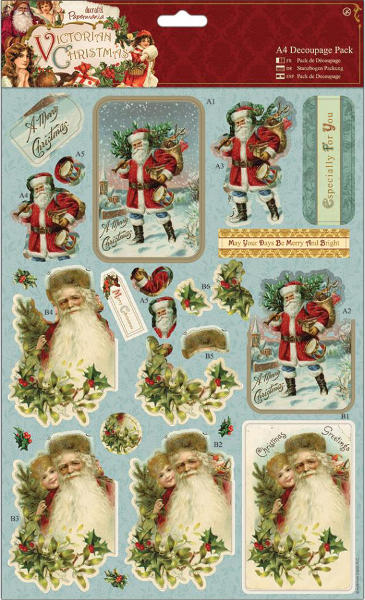 Victorian Christmas - A4 Decoupage Pack - Santa - Papermania