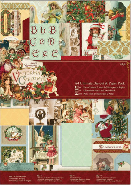 Victorian Christmas - A4 Ultimate Die Cut & Paper Pack 48pcs - Papermania