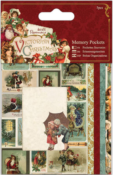 Victorian Christmas - Memory Pockets 5pcs - Papermania