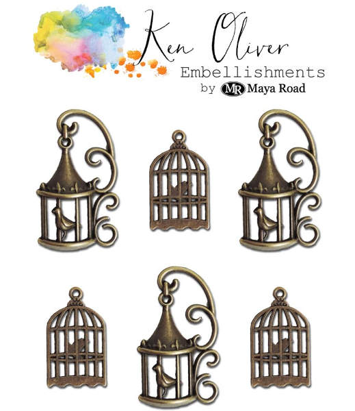 Ken Oliver Metal Vintage Bird Cages - Maya Road-1