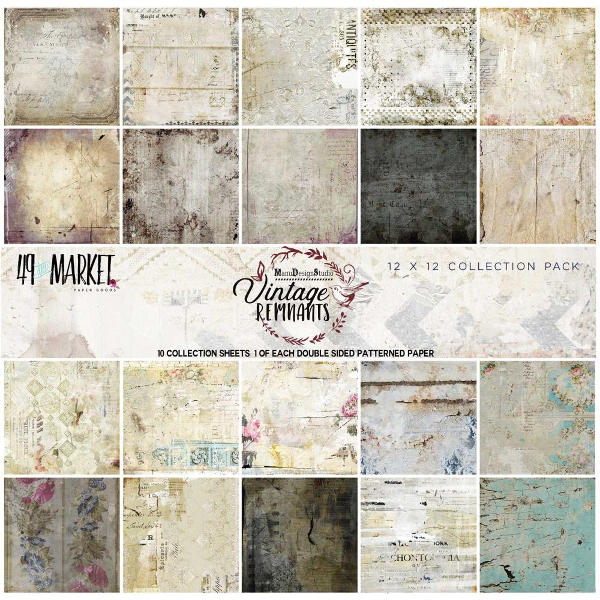 49 and Market - Vintage Remnants 12x12 Paper Collection Pack - 49 and Market