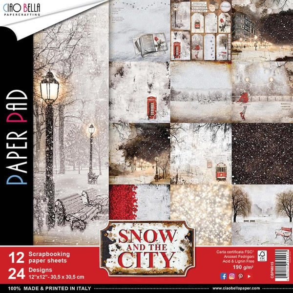 Ciao Bella Snow and the City - 12x12 Paper Pack - Ciao Bella