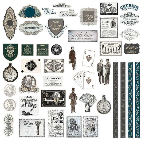 Couture Creations - Gentleman's Emporium Die-cut Ephemera Set - Couture Creations