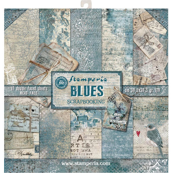 Stamperia Blues - 12x12 Paper Collection Kit - Stamperia