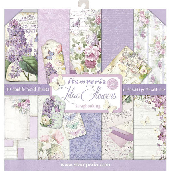 Stamperia Lilac Flowers - 12x12 Paper Collection Kit - Stamperia