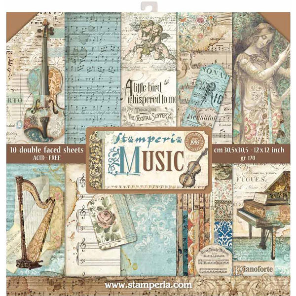 Stamperia Music - 12x12 Paper Collection Kit - Stamperia