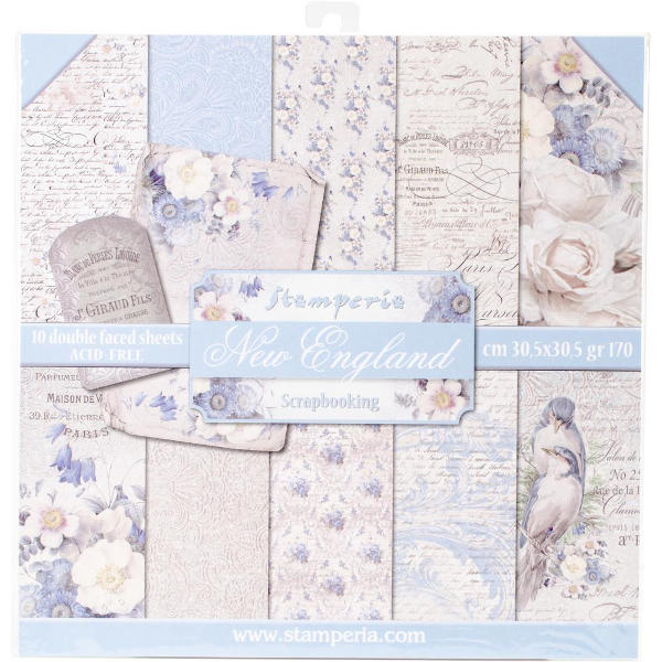 Stamperia New England - 12x12 Paper Collection Kit - Stamperia