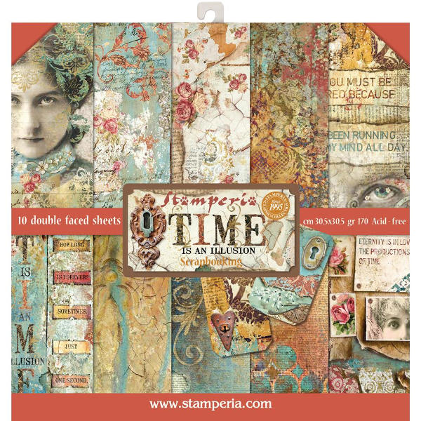 Stamperia Time Is An Illusion - 12x12 Paper Collection Kit - Stamperia
