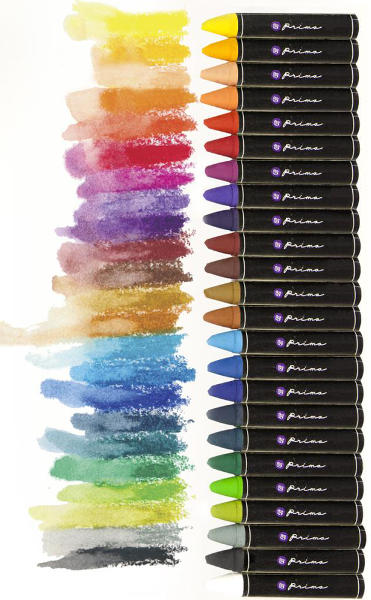 Artist Quality Oil Pastel Crayons - 24 Colors - Prima