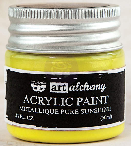 Art Alchemy Acrylic Paint - Metallique Pure Sunshine - Prima