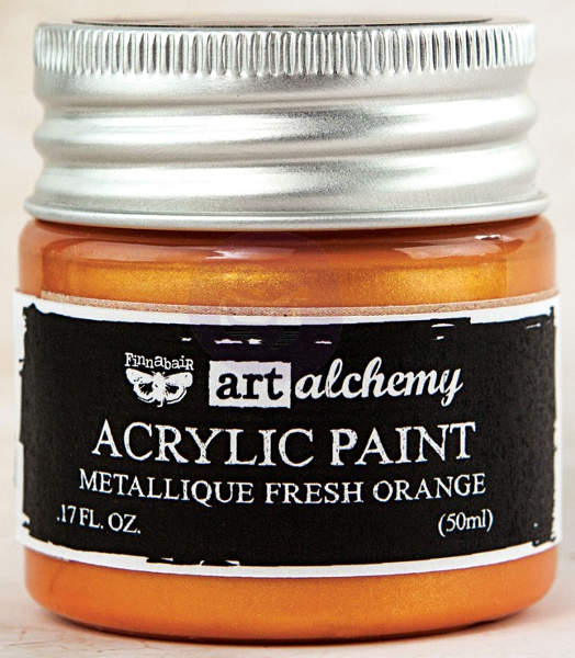Art Alchemy Acrylic Paint - Metallique Fresh Orange - Prima